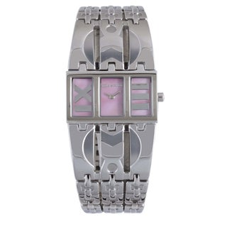 Mila Schon Women's Pink MOP Dial Stainless Steel Quartz Watch