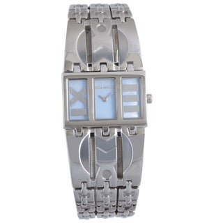 Mila Schon Women's Blue MOP Dial Stainless Steel Quartz Watch
