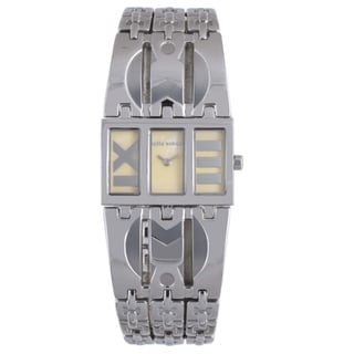 Mila Schon Women's Yellow MOP Dial Stainless Steel Quartz Watch