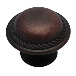 GlideRite Round Rope Oil Brushed Bronze Cabinet Knobs (Pack of 10)
