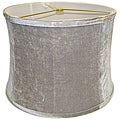 Round Ribbed Drum Grey Velvet Shade