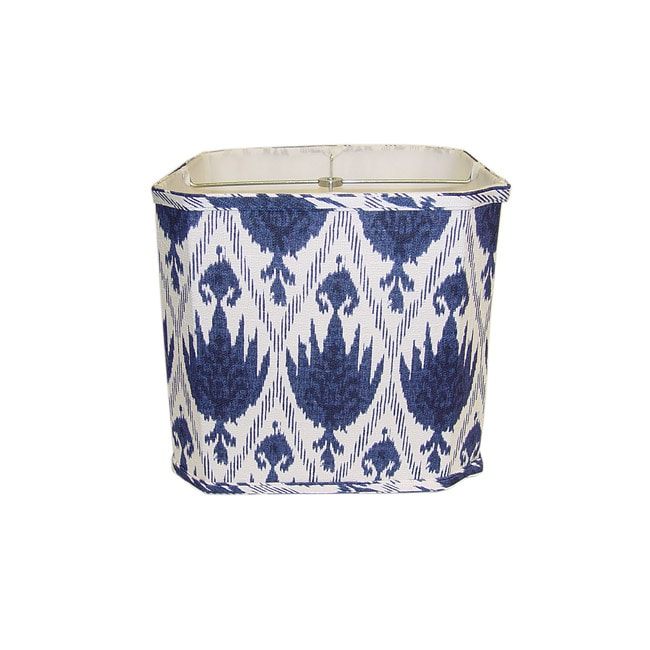 blue white linen square lamp shade overstock shopping great deals. Black Bedroom Furniture Sets. Home Design Ideas