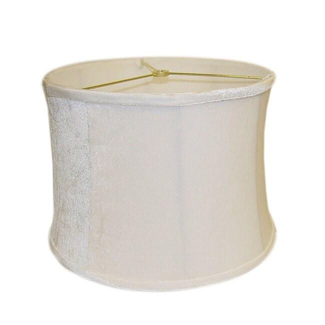 Light Cream Round Ribbed Velvet Lamp Shade