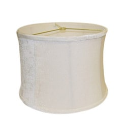 Light Cream Round Ribbed Velvet Lamp Shade
