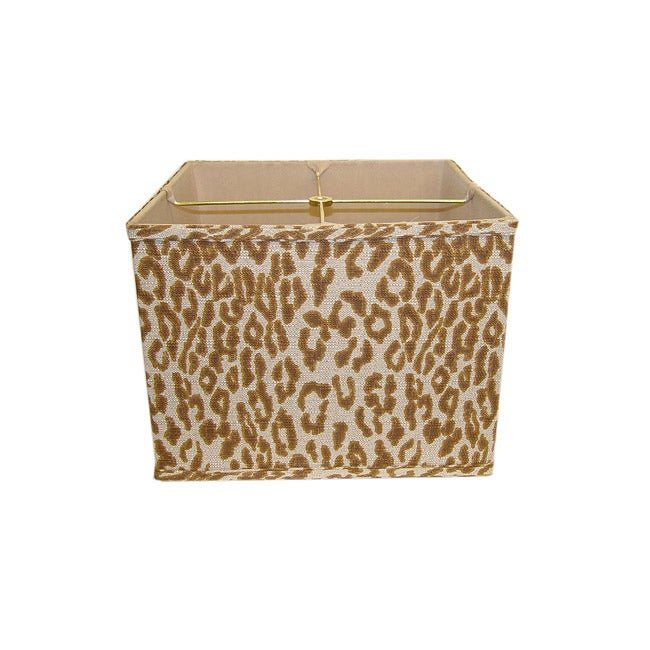 Cheeta Print Linen Square Lamp Shade