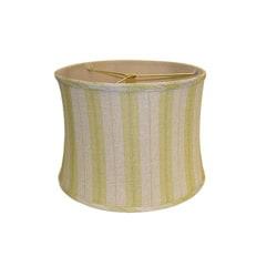 Green Striped Linen Lamp Shade
