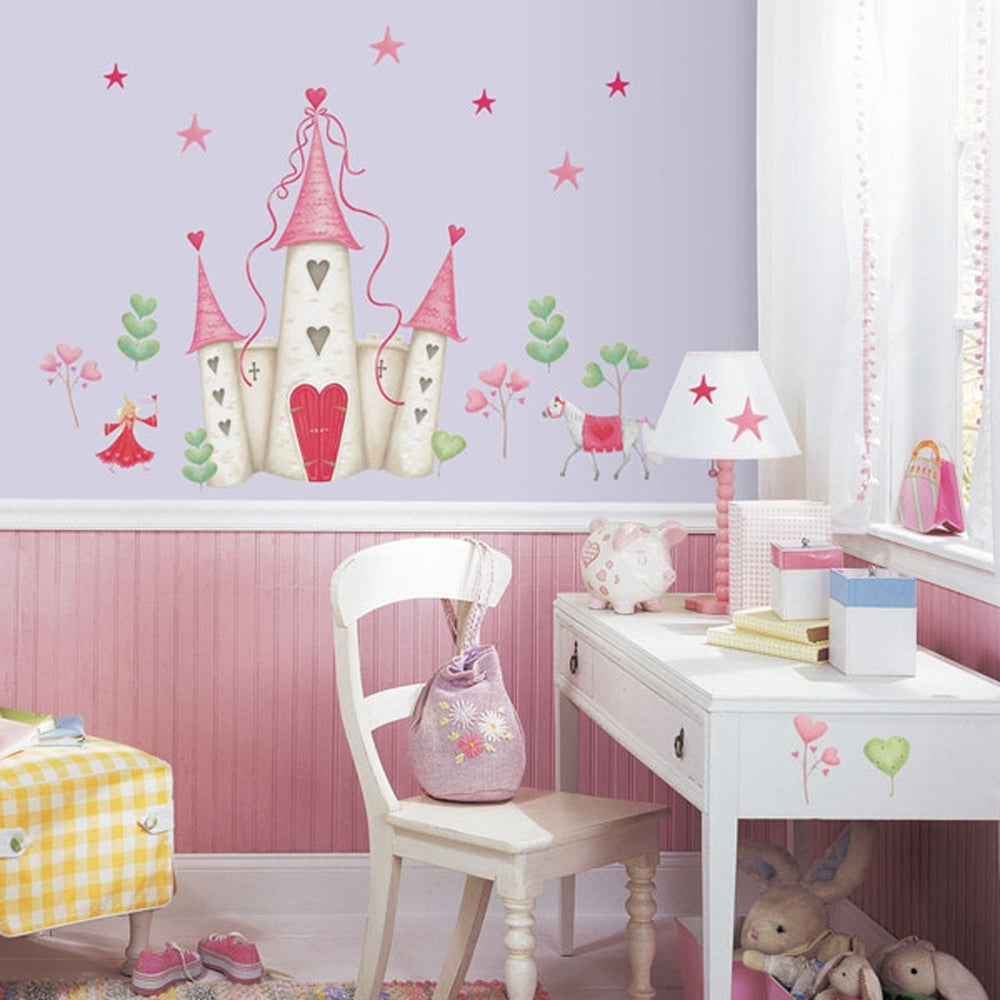 Roommates princess castle peel and stick wall decal 14341764