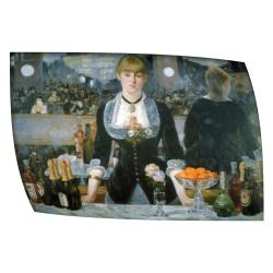 Manet 'Folies Bergere' Flat Canvas Art