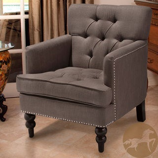 Christopher Knight Home Malone Charcoal Grey Club Chair