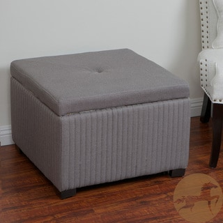 Christopher Knight Home Angelique Dark Grey Shoe Storage Ottoman