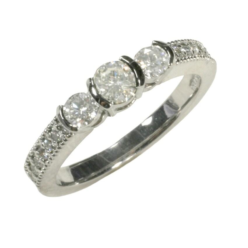14k White Gold 5/8ct TDW Diamond Ring (G, SI1)