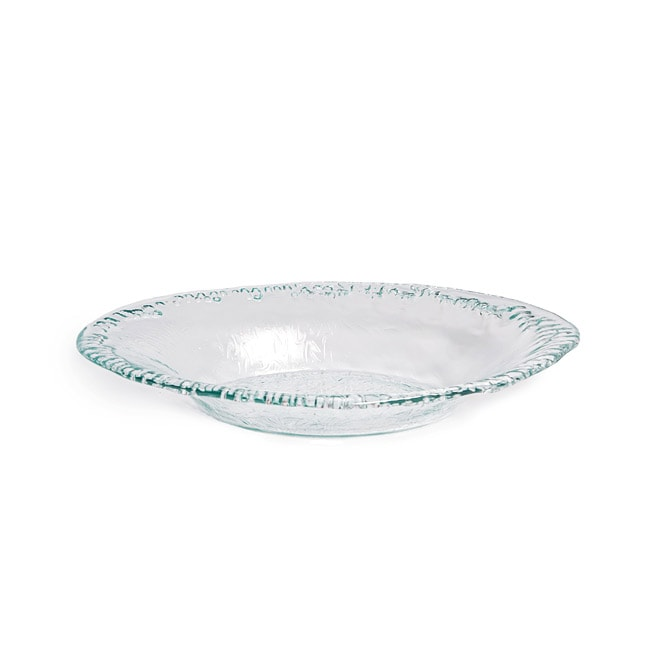 Artisan Recycled Glass Oval Bowl