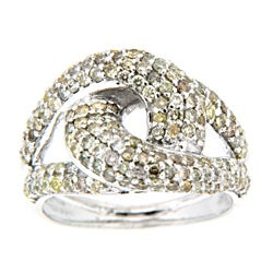 10k White Gold 1 1/3ct TDW Brown Diamond Fashion Ring