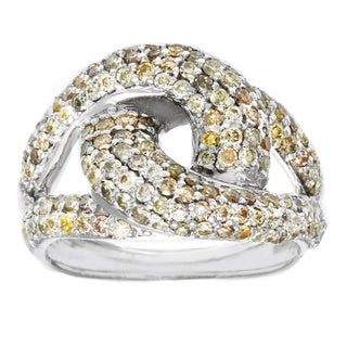 10k White Gold 1 1/3ct TDW Brown Diamond Fashion Ring