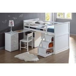 Wyatt White Finish Twin Loft Bed