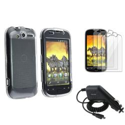 Clear Crystal Case/ LCD Protector/ Car Charger for HTC Mytouch 4G