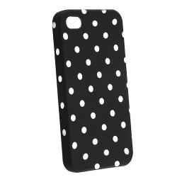 Red/ White Dot Case/ Yellow Headset Dust Cap for Apple iPhone 4/ 4S