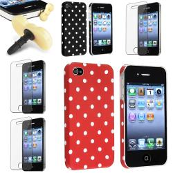 Case/ Screen Protector/ Yellow Headset Dust Cap for Apple iPhone 4/ 4S