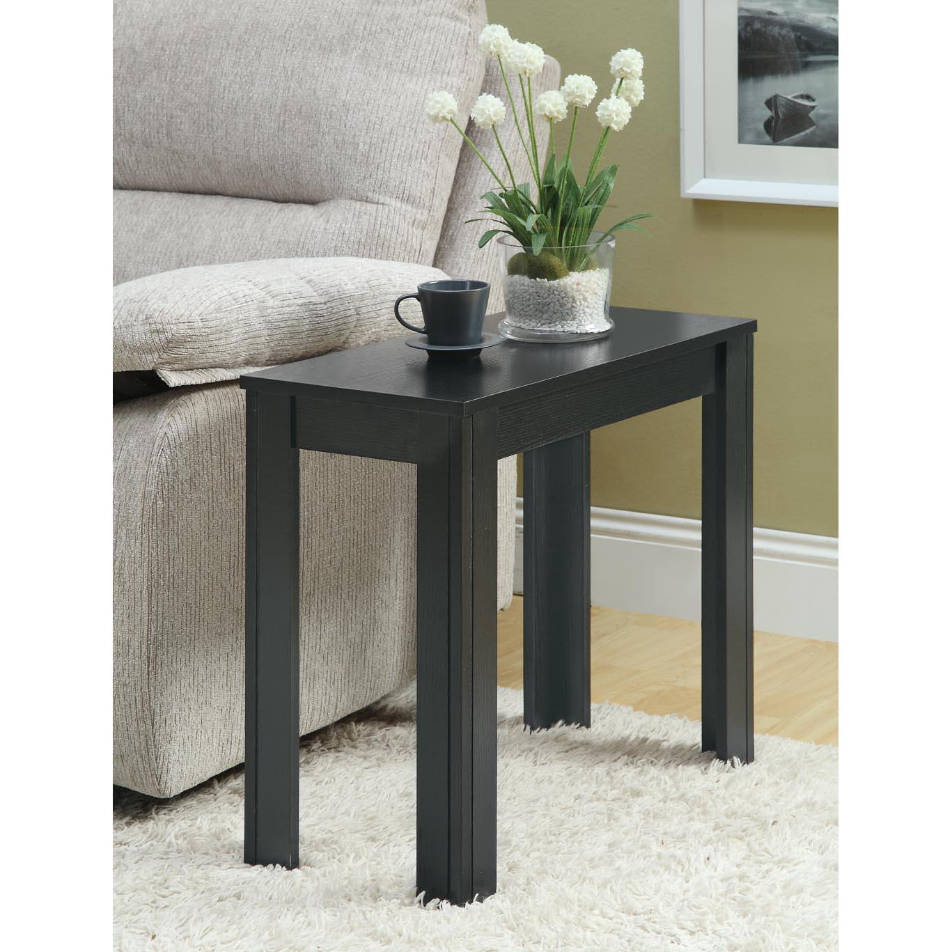 Black oak accent side table 14344316 for Furniture of america architectural inspired dark espresso coffee table