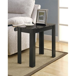 Black/ Grey Marble Accent Side Table