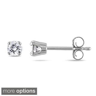 Miadora 14k Gold Men's 1/4ct TDW Diamond Stud Earrings (J-K, I2-I3)