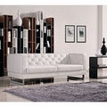 DG Casa Allegro White Synthetic Leather Sofa