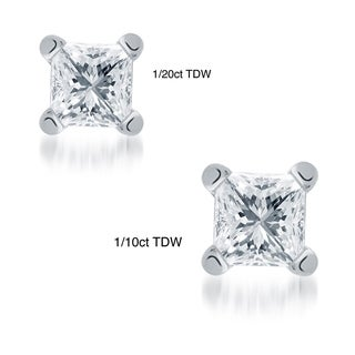 10k Gold 1/20ct to 1/10ct TDW Diamond Single Earrings (I-J, I1-I2)