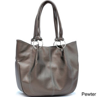 Dasein Semi-pleated Tote Bag