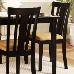 Wilmington Black Slat Back Cushioned 5-piece Dining Set