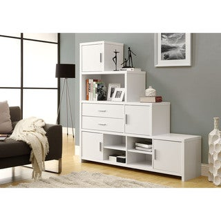 White Step Design Bookcase
