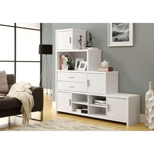 White Step Design Bookcase