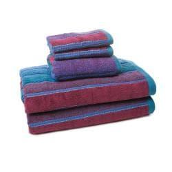 Alexander Julian Block Stripe 5-piece Towel Set