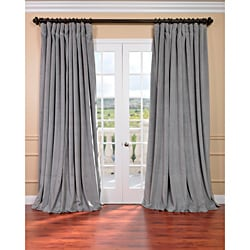 EFF Silver Grey Velvet Blackout Extra Wide Curtain Panel