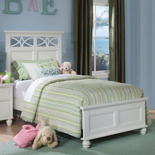 TRIBECCA HOME Piston Cottage White Modern Full-size Low Profile Bed