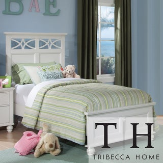 Tribecca Home Piston Cottage White Modern Twin-size Low Profile Bed