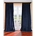 Midnight Blue Velvet Blackout Extra Wide Curtain Panel