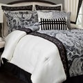 Dalya Black/ Cream Paisley 4-Piece Comforter Set