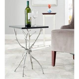 Safavieh Hidden Treasures Black Granite Silver Square Accent Table