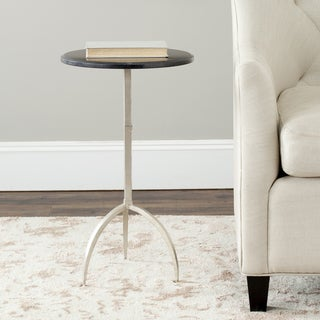 Safavieh Hidden Treasures Black Granite Silver Accent Table