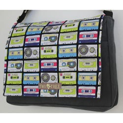 Two Tree Designs Retro Cassette Tapes Handmade Messenger Bag
