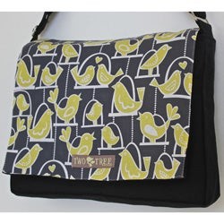 Two Tree Designs Yellow Songbirds Handmade Messenger Bag