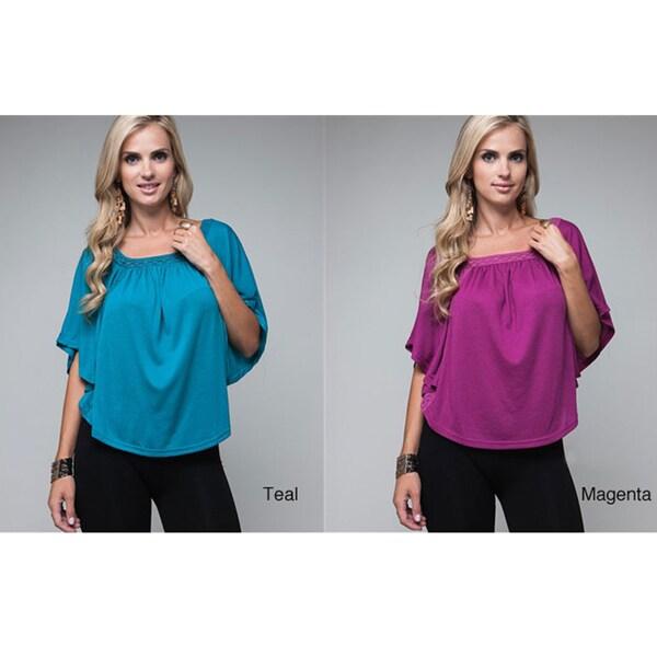 Stanzino Women's Knit Trim Cape Top