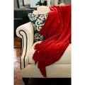 Red Susan Luxury Chenille Throw with Fringe