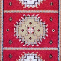 Indo Hand-knotted Kazak Red/Ivory Wool Rug (3' x 5')