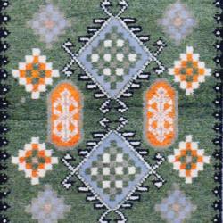 Indo Hand-knotted Kazak Olive/ Ivory Wool Rug (3' x 5')