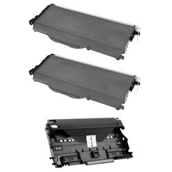 Brother TN360 Compatible Black Toner Cartridges / DR360 Compatible Drum Unit (Pack of 3)