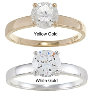 Alyssa Jewels 14k Gold 1ct TGW Cubic Zirconia Engagement-style Ring