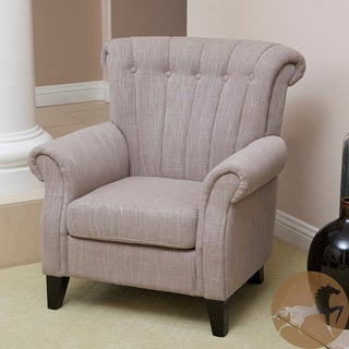 Christopher Knight Home Waldorf Light Mocha Channel-backed Linen Softly Padded Club Chair
