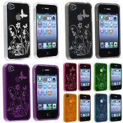 Pink/ Blue/ Purple/ Orange/ Green TPU Cases for Apple iPhone 4/ 4S (Set of 7)