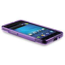 Dark Purple S Shape TPU Case/ Protector for Samsung Galaxy S II i9100